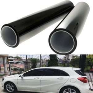 MRCARTOOL 2pcs Children's Window Shades 50CM100CM Black Car Window UV Protection Adhesive Tint Film